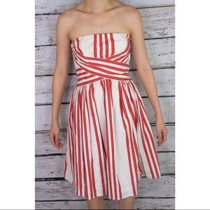Anthropologie Odille Red & White Stripe Regatta